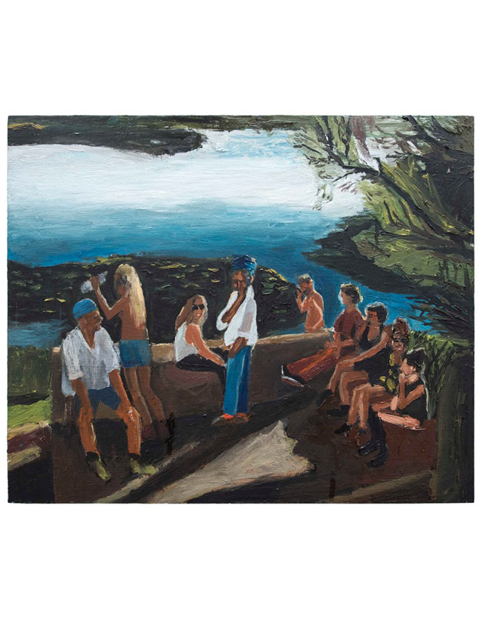 """""""At The Lake"""", Oil on Plywood, Mounted on Aluminium, 2015"""